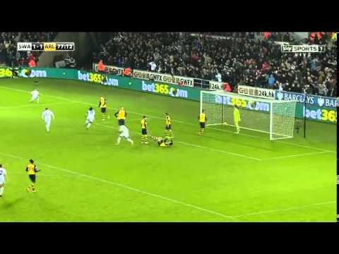 Swansea City vs Arsenal 2 vs 1 – Full Match Highlights | All Goals Premier League | 9/11/2014