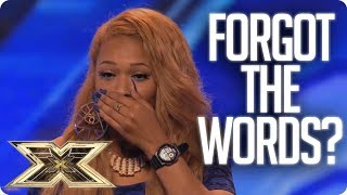 SHE FORGETS THE WORDS AND WALKS OFF! | Unforgettable Auditions | The X Factor UK