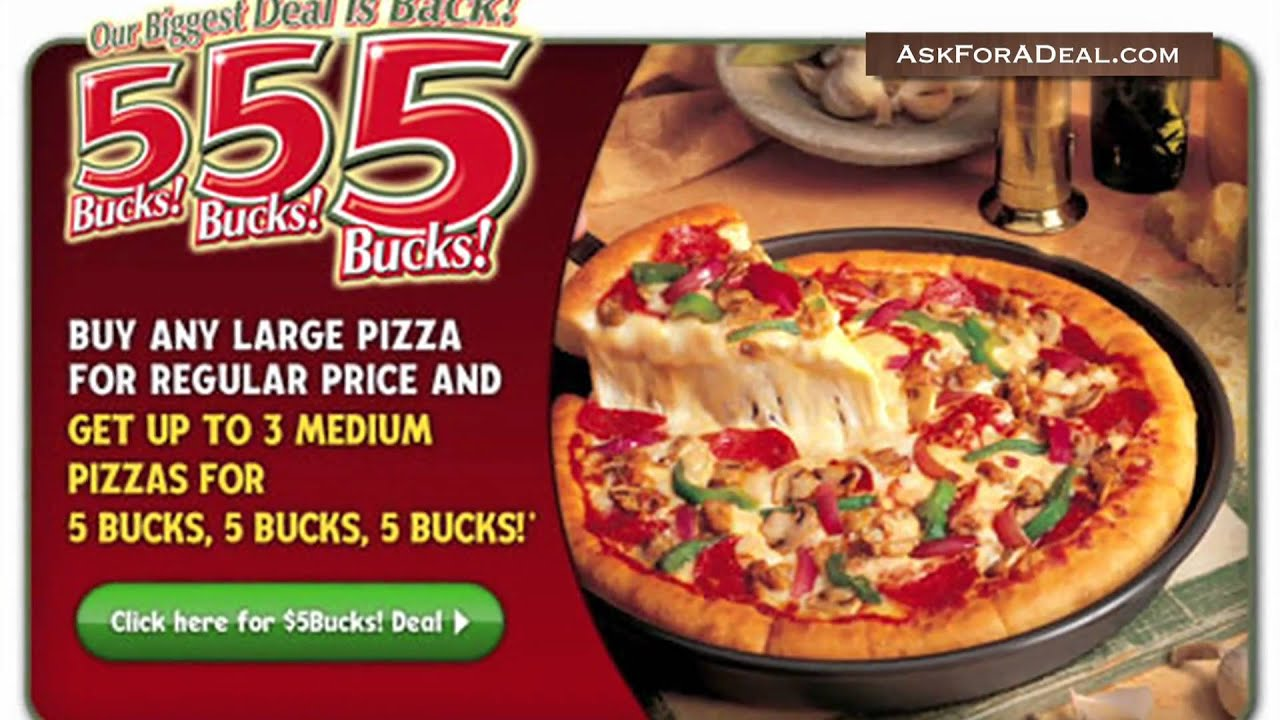 Large Pizza Only $11 Online Select States: Enter Pizza Hut coupon code: ELEVENONLINE in their promo box at checkout.. Pizza Hut Coupon – 5 Lunch Buffet All-you-can-eat lunch buffet for only $5. Unlimited pizza, pasta, salad bar, bread sticks, cinnamon sticks and more fast lunch options.