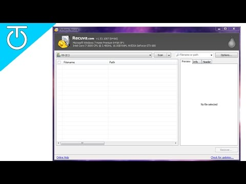 Recuva Free Data Recovery - Review and Tutorial