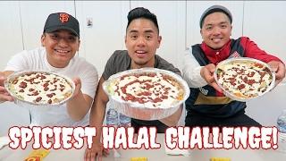 SPICIEST HALAL CHALLENGE! 5 RED SAUCES EACH! HALAL GUYS