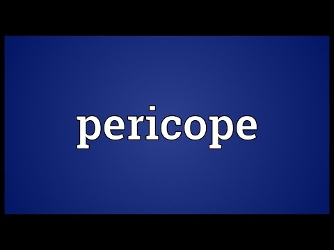 Header of pericope