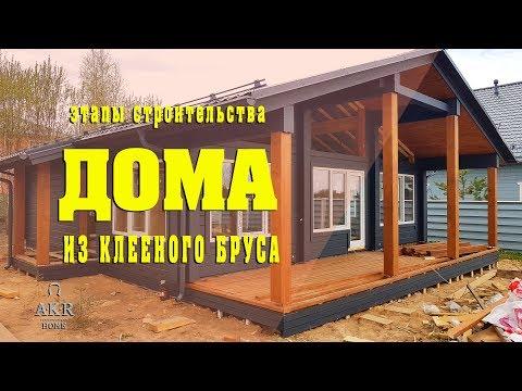 Строительство дома из клееного бруса. AKR Home.