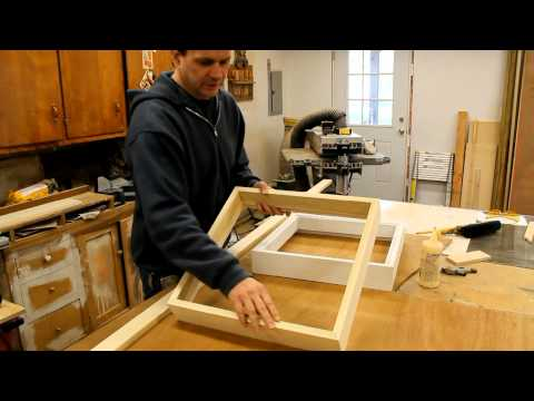 Art Woodworking how to make a wood picture frame with French cleat system by Jon Peters