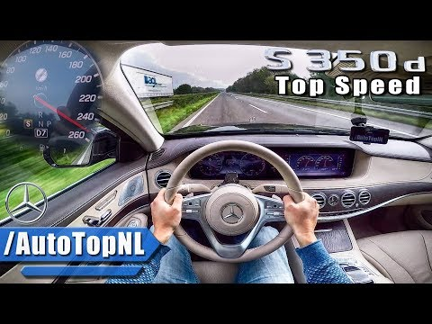 2018 Mercedes Benz S Class S350d AUTOBAHN POV TOP SPEED by AutoTopNL