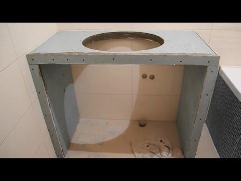 Пьедестал под раковину в ванную своими руками 21