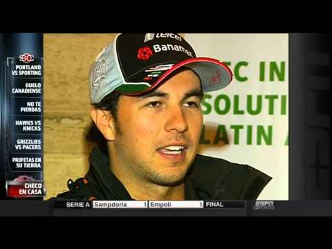 ESPN Deportes Sport Center F1 GP Mexico Perez 2015