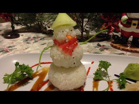 Como hacer hombre nieve de arroz de sushi youtube for Como hacer arroz para sushi