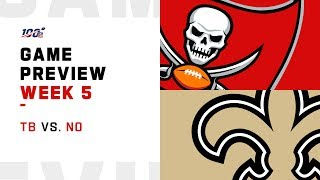 Tampa Bay Buccaneers vs. New Orleans Saints Week 5 NFL Game Preview