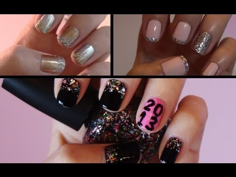 Three Easy New Year's Eve Nail Tutorials!