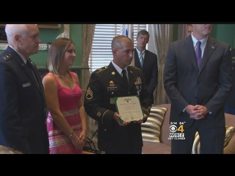 Soldier Honored For Response To Boston Marathon Bombings
