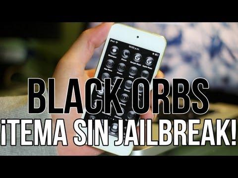 Black Orbs Tema Para iPhone & iPod Touch �SIN JAILBREAK!