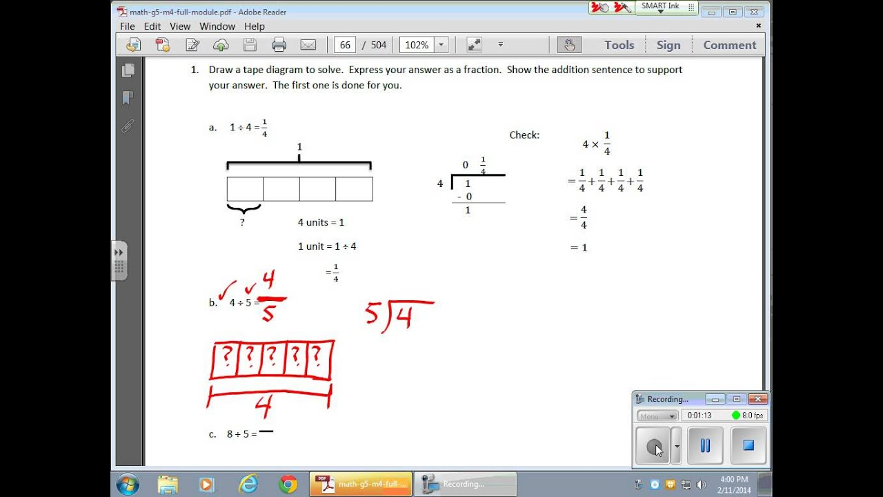 February 11 Module 3 Lesson 4 Creating Tape Diagrams Out Of Division Problems