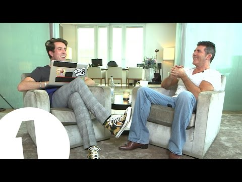 Simon Cowell talks to Nick Grimshaw
