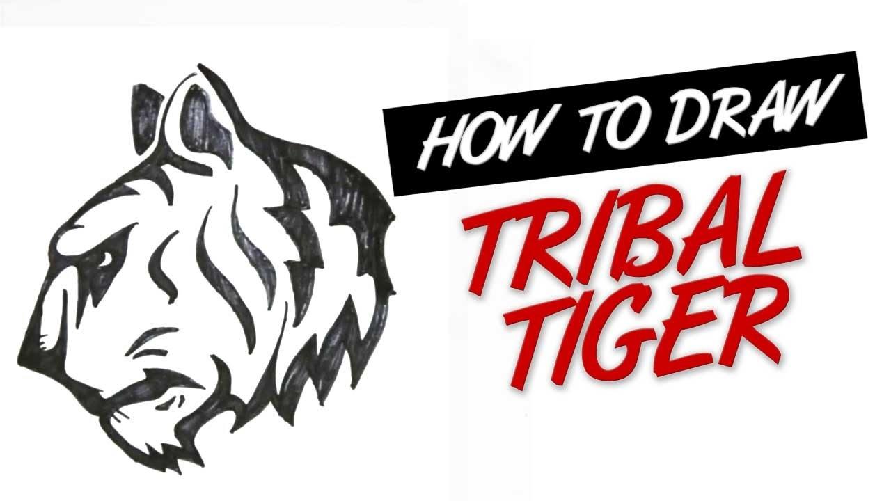 Simple tribal tiger head
