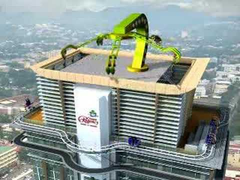 Sneak Peek of Insanity Sky Ride In 41 Storey Crown Regency Hotel in Cebu City, Philippines
