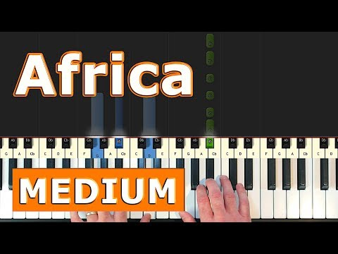 Toto - Africa - Piano Tutorial Easy - [Sheet Music]