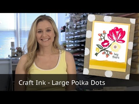 Polka Dot Background with Stampin Up Products