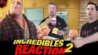 A BABYSITTING NIGHTMARE ! Incredibles 2 Trailer Reaction ft Holly Hunter&Brad Bird ( 2018 ) HD
