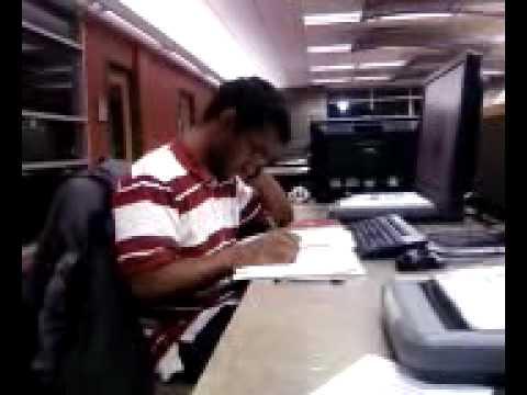 Raj studying