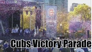 Thousands Cubs Fans Gathered Awaits for Victory Parade