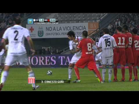 Gol Goñi. Estudiantes 1 - Independiente 0. Fecha 2. Torneo Primera División 2014. FPT