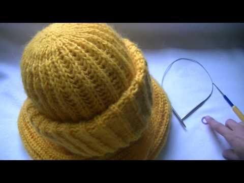 Спицы шапки связанные английской резинкой