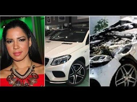 Yubelkis Peralta choca su jeepete de 7 millones de pesos