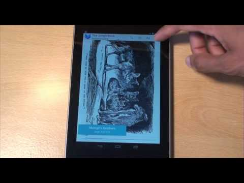 Nexus 7 Book Reading as E-Reader Hands on Review / Demo