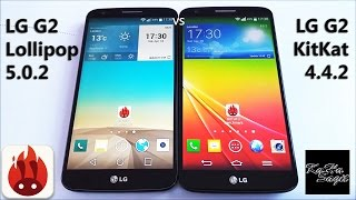 LG G2 D802 Lollipop 5.0.2 vs KitKat 4.4.2 Antutu Benchmark test