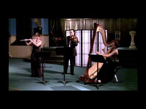 Dolce Suono Ensemble performs Debussy's Sonata for Flute Viola Harp, I. Pastorale