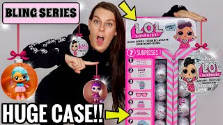 LOL SURPRISE BLING SERIES DOLLS!! HUGE 4 FOOT TALL FULL CASE!! NEW L.O.L SURPRISE HOLIDAY SERIES 4!
