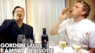 Ricky Gervais & Gordon Ramsay Try Spunk Vodka | The F Word Full Episode