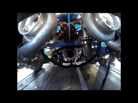 10,000 RPM 2500HP Twin Turbo Modular / DOHC Mustang Engine by MMR - Camera in engine bay
