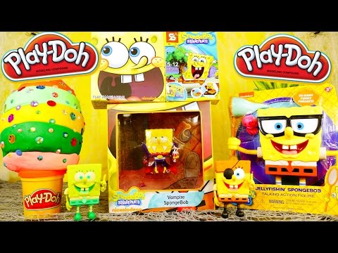 Spongebob Toy Videos Playdough Surprise Egg Spongebob Squarepants Blind Box - Disney Cars Toy Club