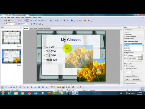 How to do Power Point Presentation using OpenOffice