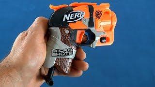 $7 Nerf Gun Review - Nerf MicroShots Hammershot Blaster Review