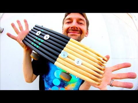 THE UN(BEAT)ABLE DRUMSTICK SKATEBOARD!