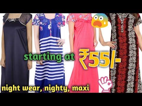 Ladies Nighty, maxi, night wear wholesale market Gandhi nagar, Delhi