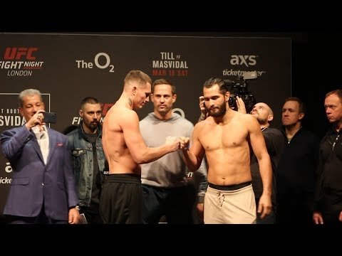 UFC London Ceremonial Weigh-In Highlights - MMA Fighting