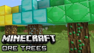 Minecraft: GROW MONEY ON TREES - Tree Ore Mod Showcase