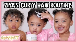 Ziya's HAIR ROUTINE | Toddler Curly Hair Tutorial