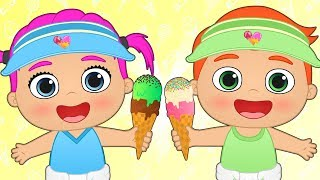 BABY ALEX AND LILY 🍨 Learn how to Make Ice Cream with Babies | Cooking Games and Cartoons