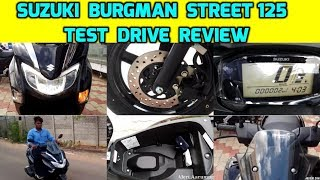 Suzuki Burgman ஸ்கூட்டர் வாங்கலாமா | Suzuki Burgman Street Test Drive Review | Suzuki Burgman