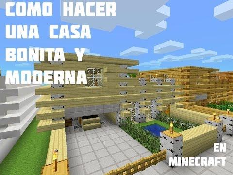Como hacer una casa BONITA Y MODERNA en Minecraft Pocket Edition