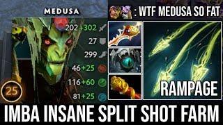 WTF Outfarm Alchemist - EPIC Pro Medusa Rampage IMBA Insane Split Shot Ez Delete Alchemist DotA 2