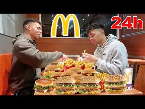 24 STUNDEN NUR MCDONALDS ESSEN !!! | PrankBrosTV