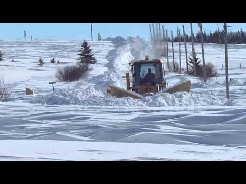 Snow plows hard at work on Prince Edward Island, Canada