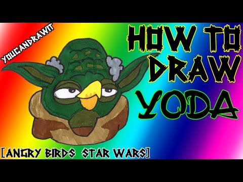How To Draw Yoda from Angry Birds Star Wars 1&2 ✎ YouCanDrawIt ツ