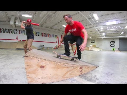 540 Double Flip Off A Ramp Challenge! / Warehouse Wednesday